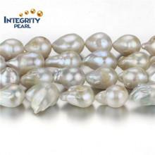 Перл Pearl Pearl Strand 15мм Сорт a + Зародышевая неподдельная жемчужная нить