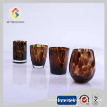 hot sale crystal wine glasses with leopard print