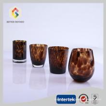 горячие продажи хрустальные бокалы с леопардовым принтом