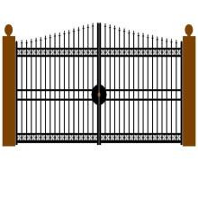 Puerta de oscilación doble de aluminio con recubrimiento plano en polvo personalizado