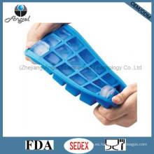 18-cavidad cuadrado de hielo de silicona molde molde bandeja cubo Si12