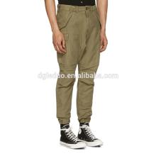 Calças de carga por atacado descontraído-ajuste 10 bolsos calças de sarja de algodão