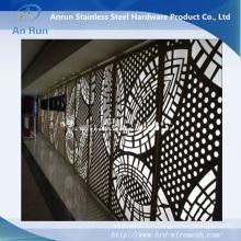 Panneau décoratif découpé au laser perforé en aluminium et métal avec testé