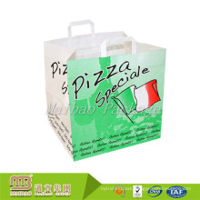Strong Soft Loop Handle Design Your Own Logo Food Takeaway Packaging Pizza Plastic Bag