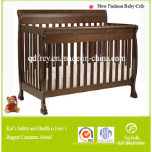 New Solid Pine Wood Baby Furniture of Cot Bed
