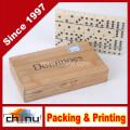 Domésticos duplos seis com caixa de madeira (431018)