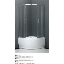 2014 Puerta de ducha corredera de 3 paneles con alta calidad