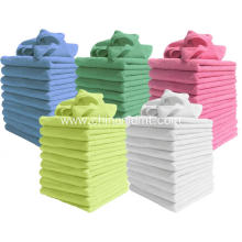 Multicolor Microfiber Cleaning Bathtowels
