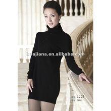 100% pure cashmere ladies winter sweater dresses