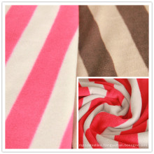 Stripe Anti-Pilling Polar Fleece Printed Polyester Fleece Fabric Factory Direct Quality Assurance Best Price, Blanket Fabric, Garment Fabric.