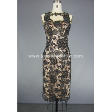 Woman's Lace Open Back Cocktail Party Dress