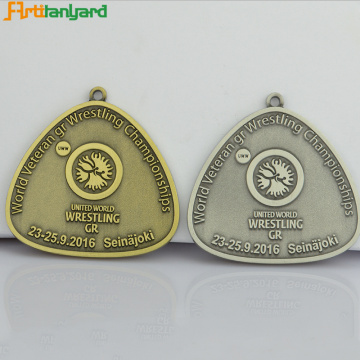 Metal Medal with Antique Plating