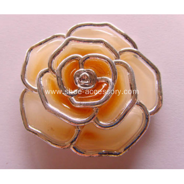 Women Rose Flower Shoe Clips Fashion Ornaments