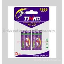 TINKO ni-cd battery size D 10000mah High power