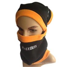 Unisexe 3-en-1 Hat d'hiver Snood Polar Fleece Mask Snood Chapeau Chaussette de ski Chaussette de ski Beanie Balaclava Masque