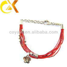 stainless steel jewelry leather bracelet China manufacturer