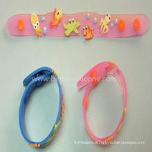 Venda quente personalizado macio PVC pulseira