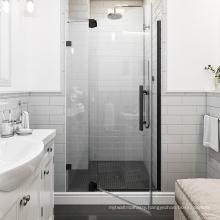 Seawin Lifetime Warranty Chrome Hinge Bathroom Black Glass swing Shower Door