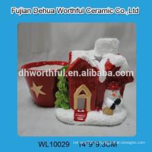 Pastel de cerámica decorativo de Navidad para interiores