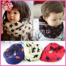 New Autumn Winter Scarf Baby Boy Girls Warm Knitted cashmere Scarf Kid Star Neck Warmer Snood scarf,Fashion Child Scarf