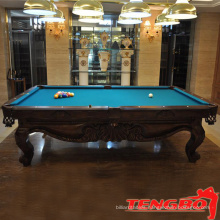 Factory snooker table hand carving pool table for sale