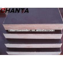 12mm, 15mm, 18mm, 21mm Brown filme enfrentou madeira compensada com alta qualidade