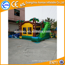 Outdoor combo inflatable bouncers house with palm tree