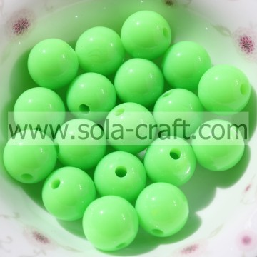 Fashion Lovely 6MM Solid Faux Acrylic Bright Green Bracelet Beads
