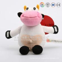 ICTI audits fabricante OEM / ODM personalizado brinquedo de vaca de pelúcia, vaca de pelúcia