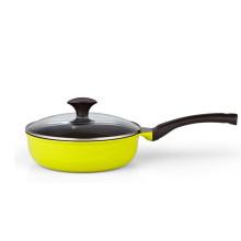 long handle aluminum pan with bakelite knob