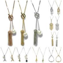 Schmucksache-Halsketten-wulstige nachgemachte Perlen-Kristallanhänger-Halsketten-Frauen-Brautart- und weiseschmucksache-Halsketten-Satz 925 Sterlingsilber-Schmucksache-Ketten-Goldhalskette