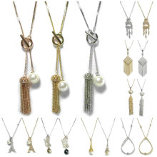 Collier de bijoux Collier en perles imitation en cristal de perles Collier de bijoux en mode nuptiale en forme de bijoux Collier en or 925 en argent sterling Collier en or