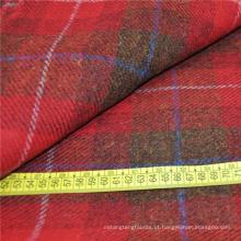 Harris xadrez vermelho tweed 100% tecido de lã orgânica vender no alibaba na china