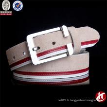 Chaussure en cuir de vachette en laine de ceinture en laine en métal à la mode tricorne à la mode