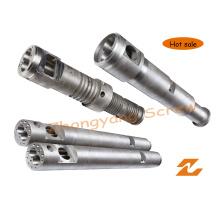 Konischer Doppelschneckenzylinder für PVC-Blatt-Rohrgranulat-Profilextrusion