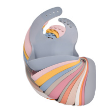 Bpa Free Custom Washable Waterproof Organic Logo Wean Boy Girl New Born Wholesale Custom Infant Baby Silicone Bib