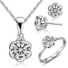 Einzelner Diamant-Schmucksache-Satz 925 silberner Schmucksache-Großverkauf