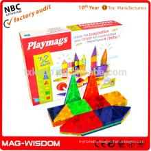 Playmags 2016 Magnetic Building Tile Blocks Construction Magna Tiles Educational toys 32pcs Set