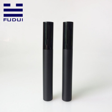 Empty Plastic Matte Black Cosmetic Eyelash Tube