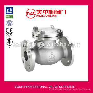 ANSI 150LB CF8 Flanged Swing Check Valve