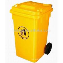 Plastikabfallbehälter mit Radform