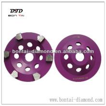 Roda de copo de diamante para moagem de concreto