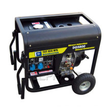Générateur diesel portatif refroidi par air de 6.0kw avec la poignée et les roues