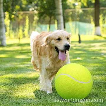 Wholesale Customized Logo Rubber Chemical Fibe Signaturer Pet Interactive Toys Pet Dog Big Nibble Tennis Balls