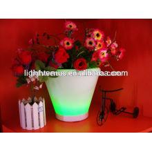flor al aire libre iluminadas macetas/macetas para sala de estar/LED plantador plástico
