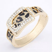 Factory wholesale 2013 54g-70x62x32mm alloy Bracelet 4colors diamond Leather belf High quality jewelry fashion gift 10113450
