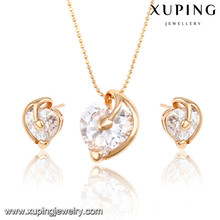 63944 Xuping Imitation bijoux mode charme plaqué or ensembles