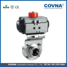 Válvula neumática para agua, petróleo y gas, industria de tratamiento de aguas residuales