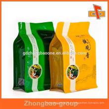 Bloqueie o saco reusável inferior da folha de alumínio para o chá com impressão feita sob encomenda