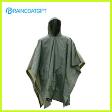 Unisex Camping 170t Polyester PVC Raincoat Rpy-006